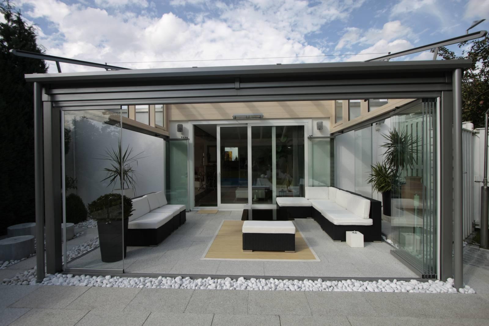 Systèmes De Fermetures Amovibles Sur Mesure Pour Terrasses ... destiné Photo Fermer Une Terrasse Couverte