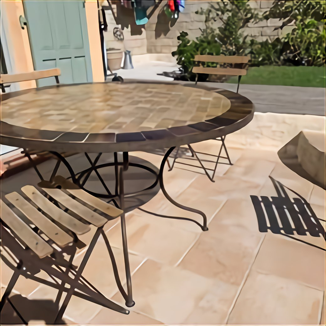 Table Fer Forge Jardin Ronde D'Occasion encequiconcerne Table De Jardin En Fer Forgé Occasion Le Bon Coin