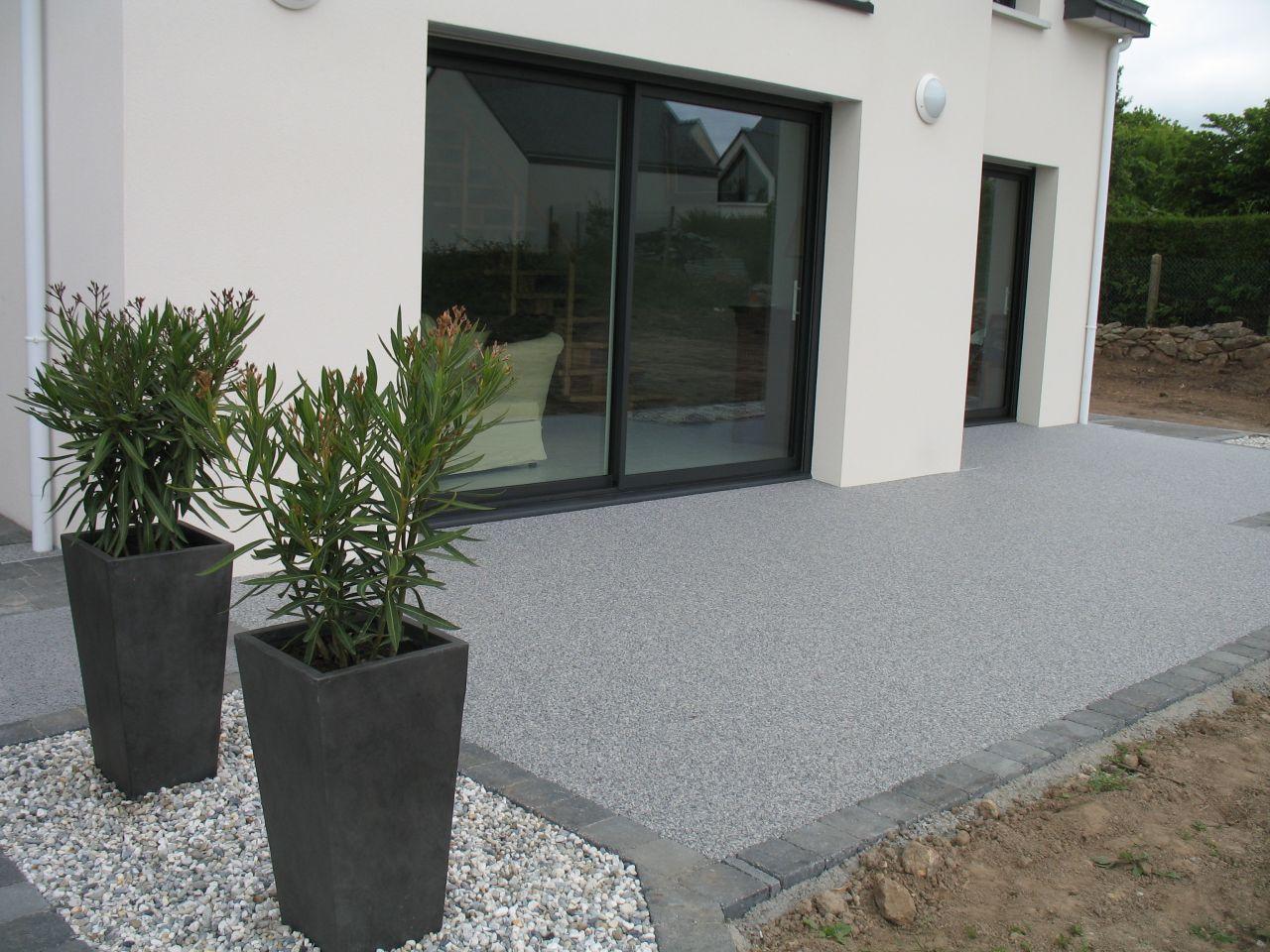 Terrasse Façade Sud02 | Aménagement Jardin Devant Maison ... avec Devant De Maison