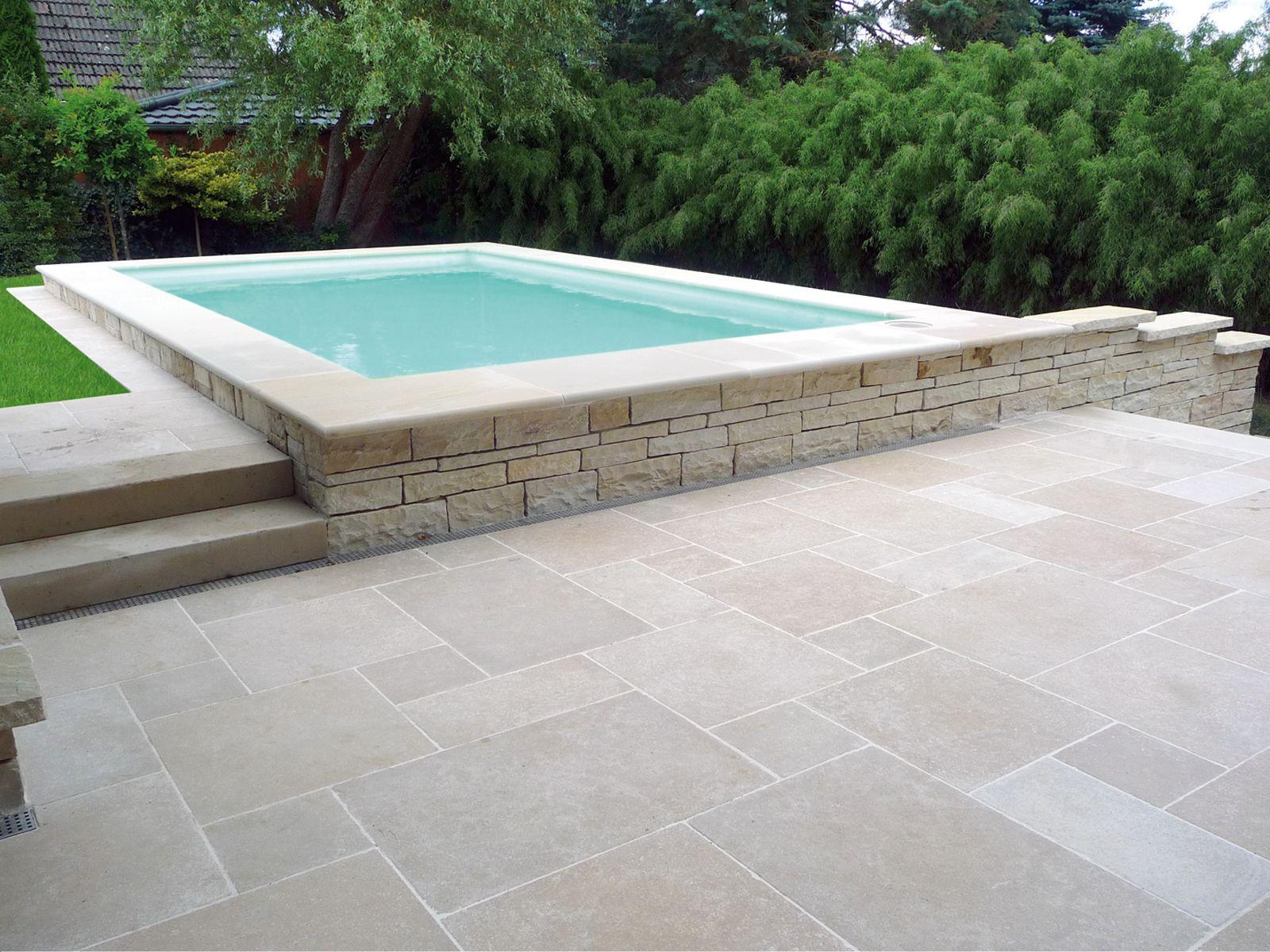Terrassenplatten Kalkstein Via Corona<Br>Getrommelt ... encequiconcerne Travertin Extérieur 40X60