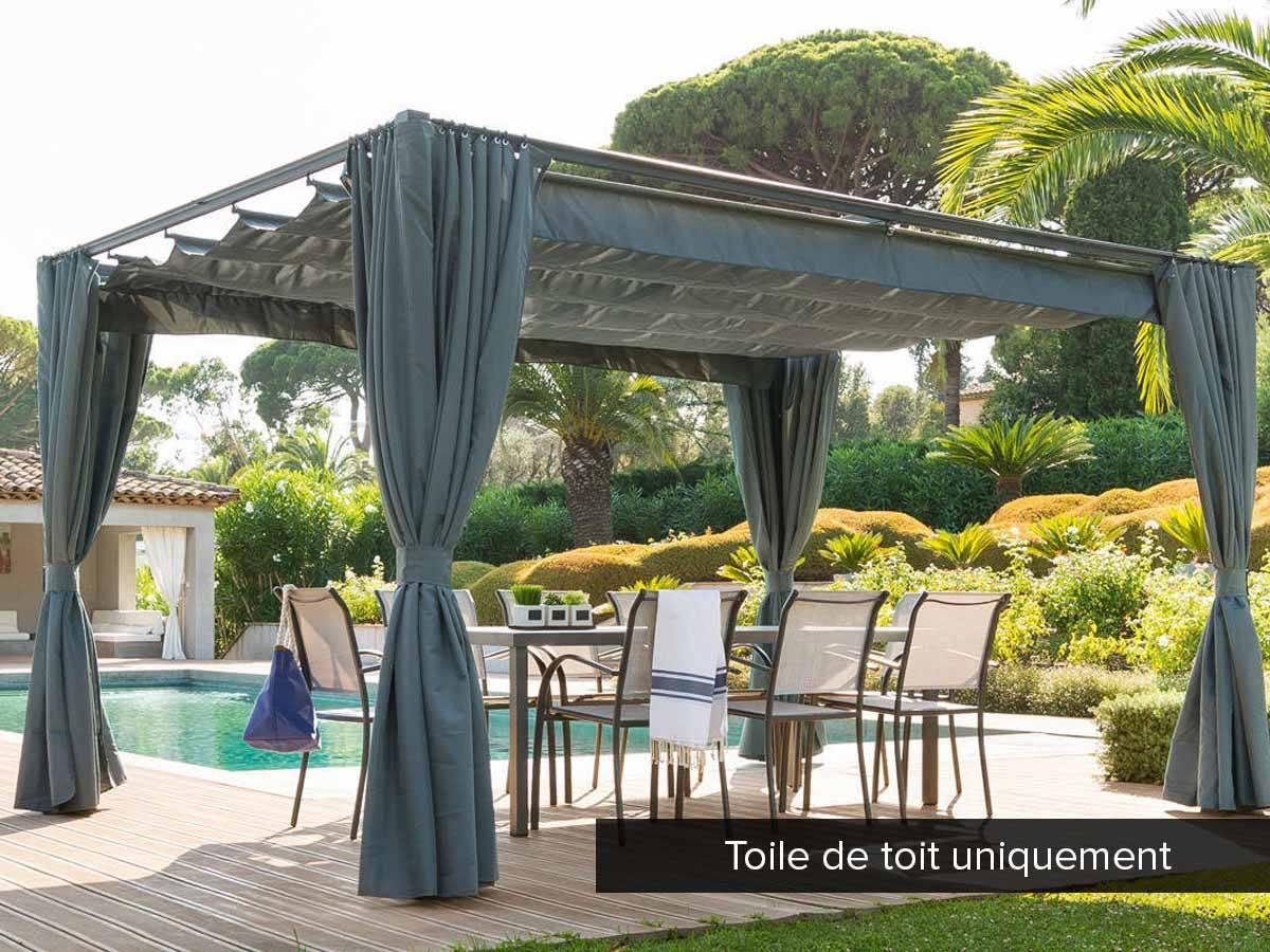 Toile De Toit Pour La Tonnelle Palmeira - intérieur Toile De Toit De Rechange Pour Tonnelle Ronde