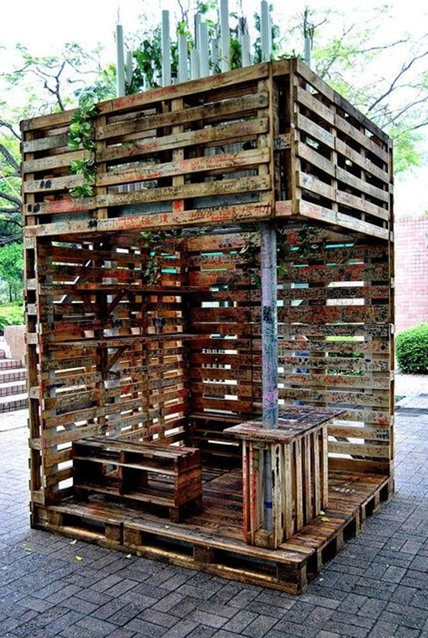Tonnelle De Jardin Diy En Bois De Palettes! 8 Idées Pour ... avec Fabriquer Une Pergola En Palette