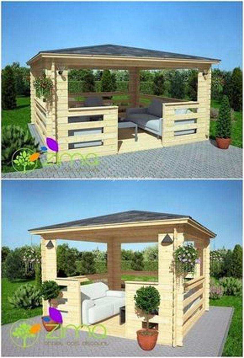 Tonnelle De Jardin Diy En Bois De Palettes! 8 Idées Pour ... destiné Fabriquer Une Pergola En Palette