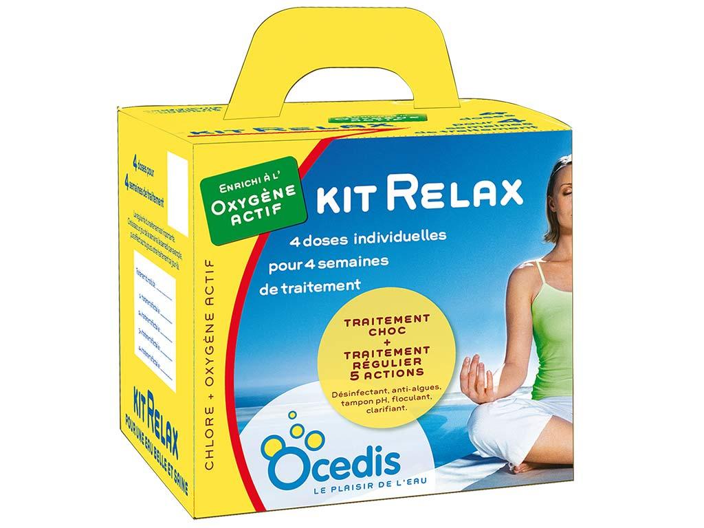 Traitement Mensuel Oxygène Actif Ocedis Kit Relax Pour Piscine 50M³ pour Dosage Oxygene Actif Piscine