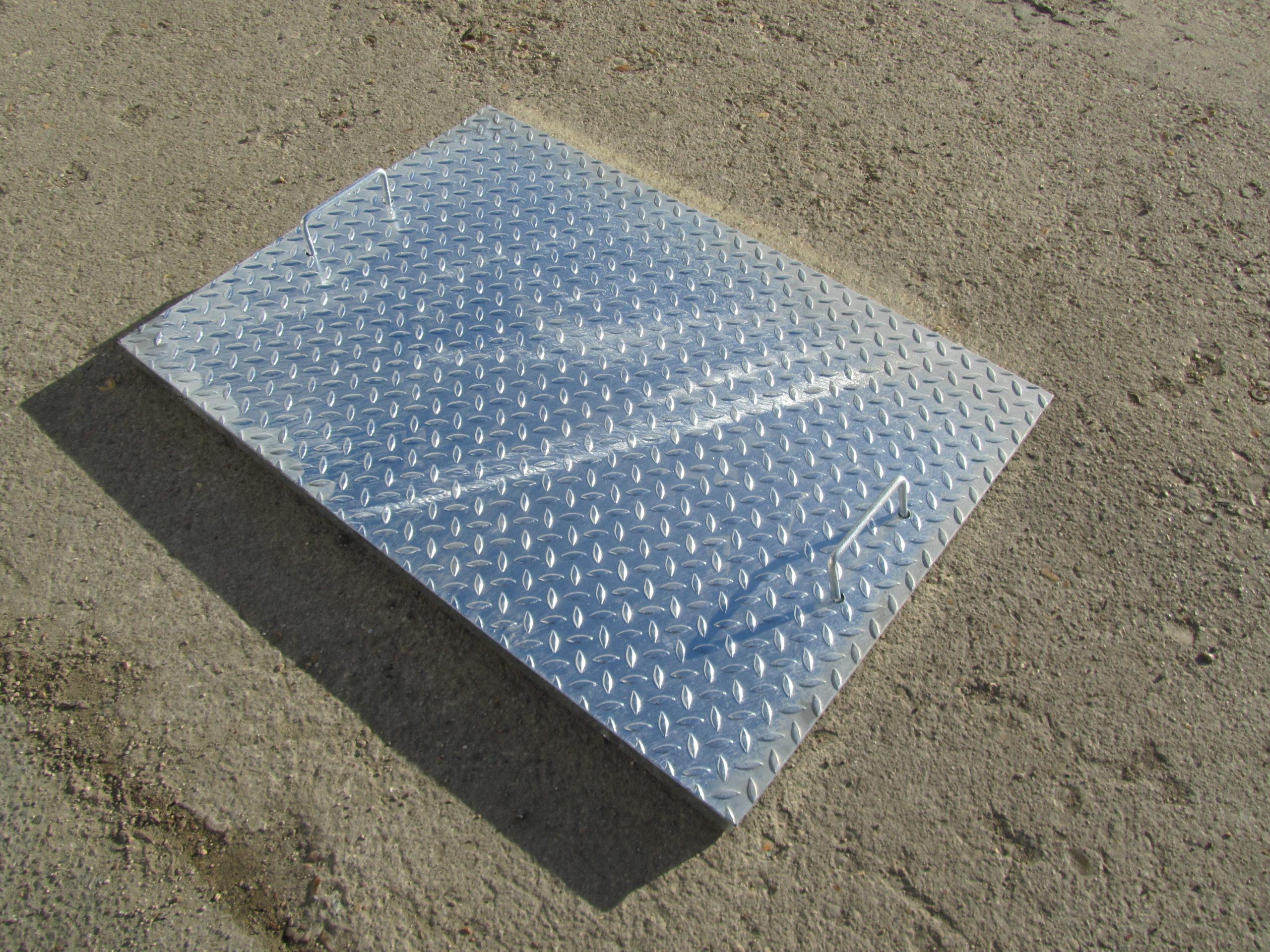Trappe De Sol Acier – Scadametal avec Couvercle Larmé Pour Passage De Voiture