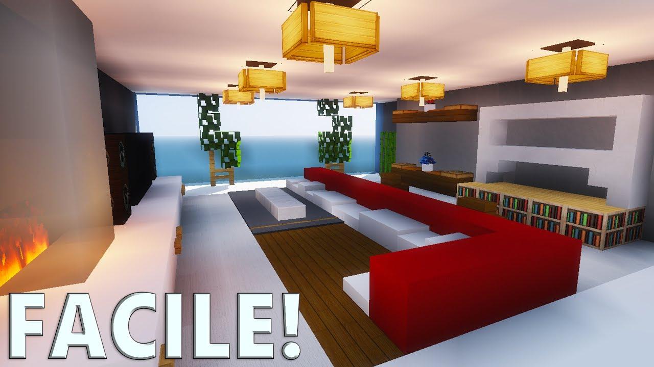 Tuto Salon Moderne ! | Minecraft encequiconcerne Comment Faire Un Canapé Sur Minecraft