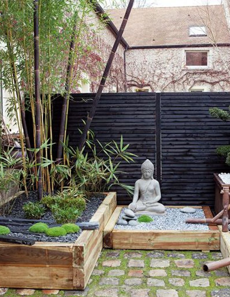 Un Jardin Zen En Rouge Et Noir - Elle Décoration serapportantà Déco Piscine Zen