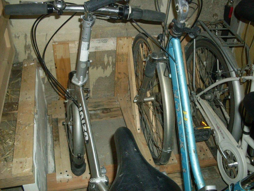 Utilisation De La Remorque Moto En Porte Vélo, Ou Création D ... avec Range Vélo Palette