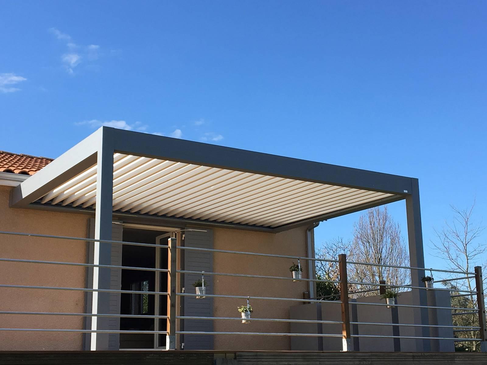 Vente De Pergola En Aluminium 4X3 Mètres Bioclimatique À ... encequiconcerne Pergola Bioclimatique Rouen