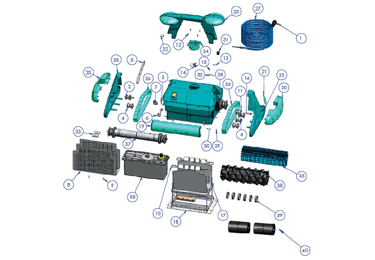 Vente De Pièces Détachées Pour Robot Électrique Zodiac Indigo pour Robot Piscine Zodiac Indigo