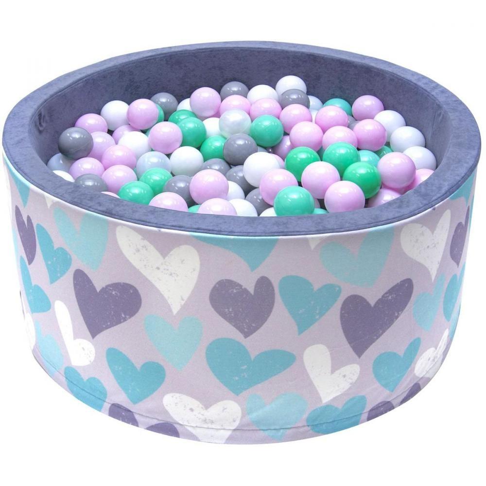 Welox Piscine 200 Balles Ø 90 Cm Pour Bébé Coeurs avec Gifi Piscine Bebe