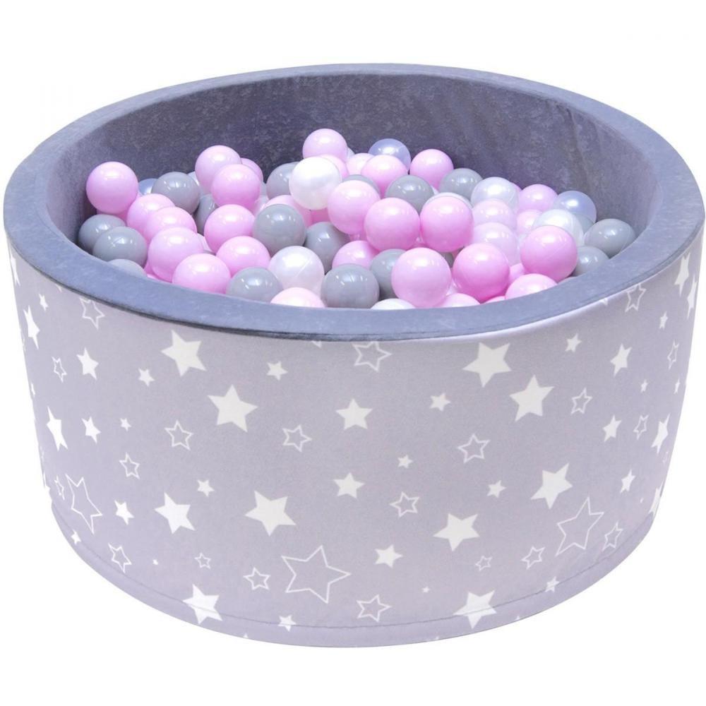 Welox Piscine 200 Balles Ø 90 Cm Pour Bébé Gris À Étoiles dedans Gifi Piscine Bebe