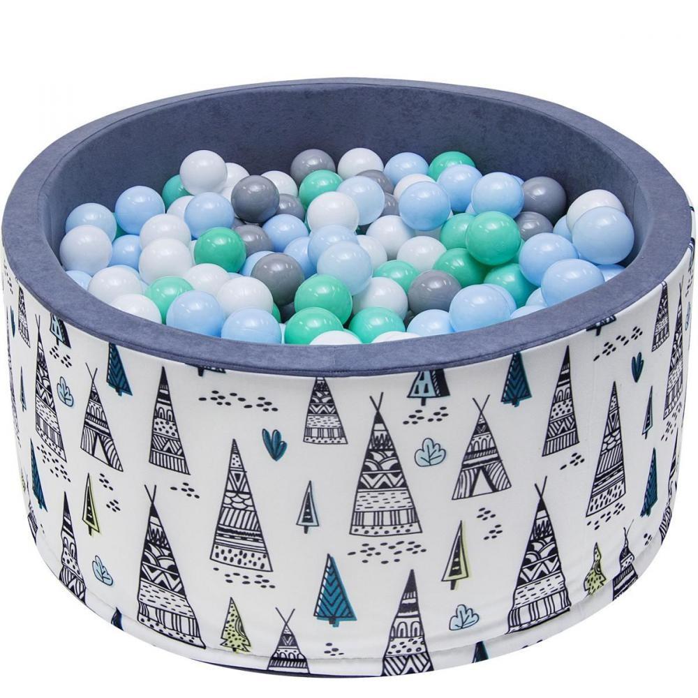 Welox Piscine 200 Balles Ø 90 Cm Pour Bébé Gris Avec Tipi destiné Gifi Piscine Bebe