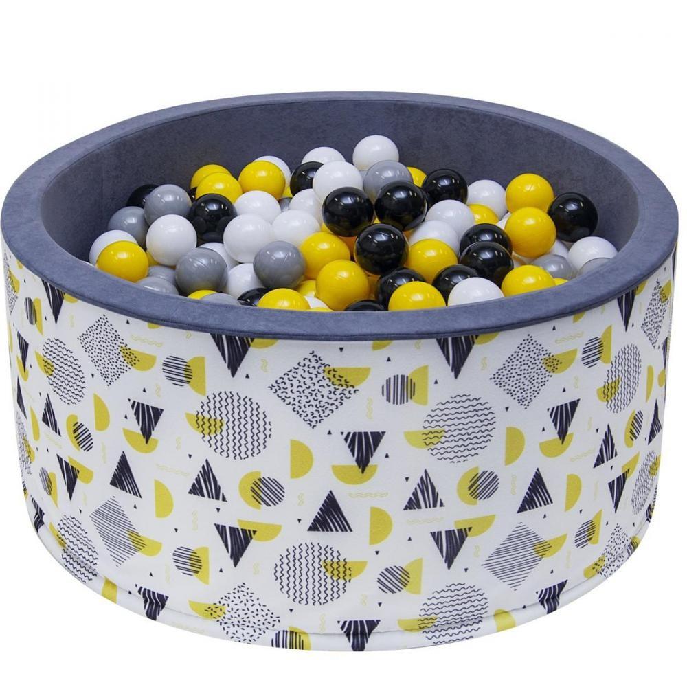 Welox Piscine 200 Balles Ø 90 Cm Pour Bébé Symboles Jaunes concernant Gifi Piscine Bebe
