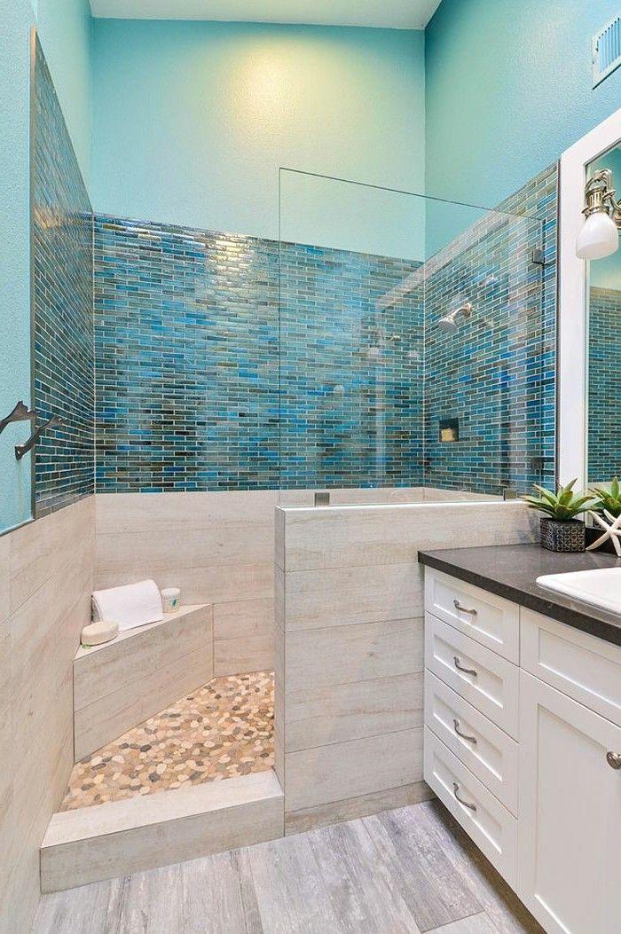 1001+ Designs Uniques Pour Une Salle De Bain Turquoise ... à Accessoire Salle De Bain Bleu Turquoise