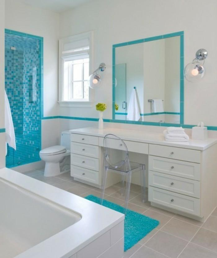 1001+ Designs Uniques Pour Une Salle De Bain Turquoise concernant Accessoire Salle De Bain Bleu Turquoise