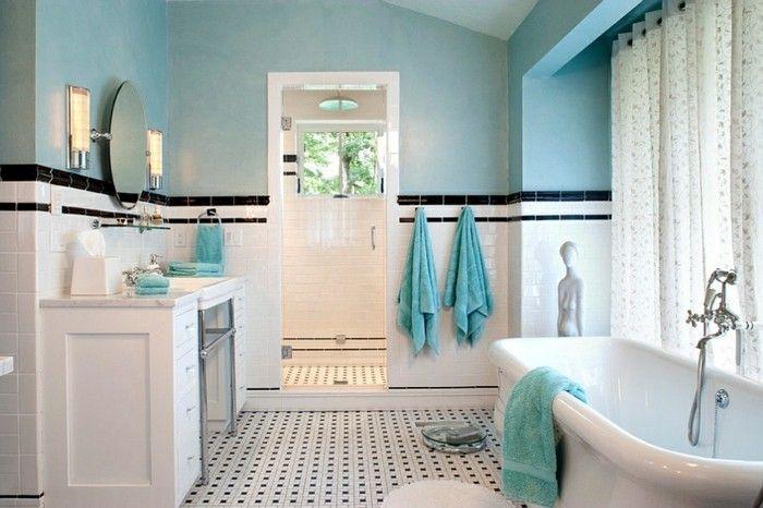 1001+ Designs Uniques Pour Une Salle De Bain Turquoise ... concernant Accessoire Salle De Bain Bleu Turquoise