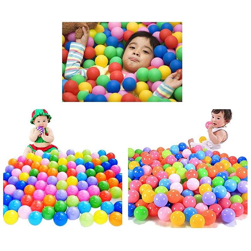 100Pcs Colorful Ball Ocean Balls Soft Plastic Ocean Ball ... encequiconcerne Piscine À Balles Gifi