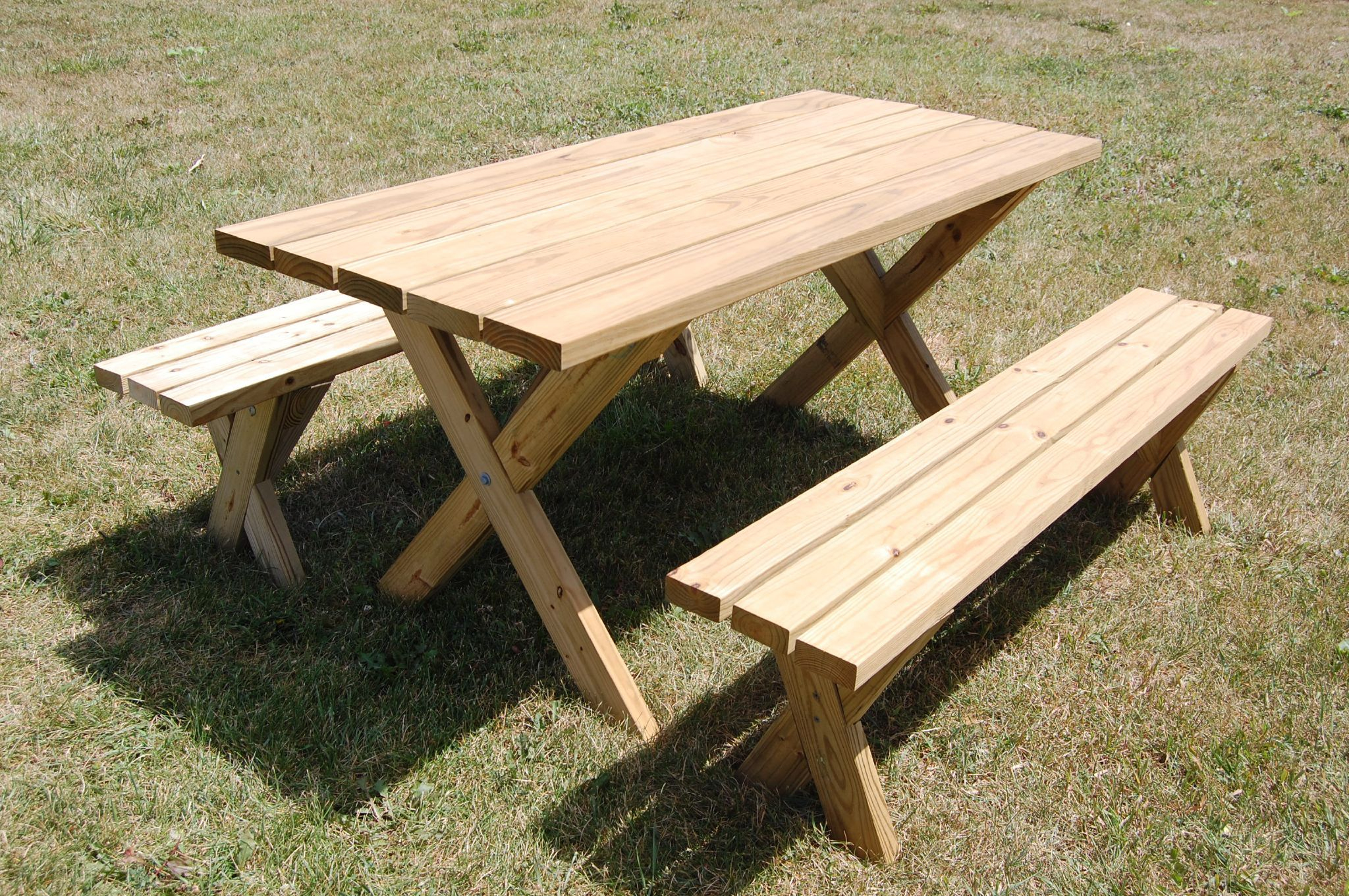 13 Free Picnic Table Plans In All Shapes And Sizes à Plan Table Picnic Pdf