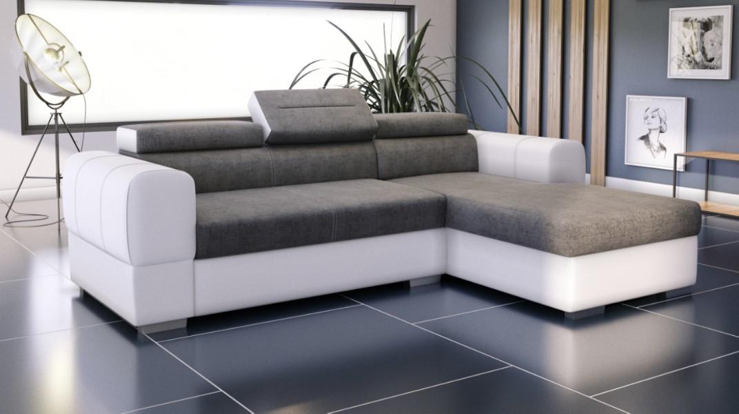35 Luxe Canapé D Angle Convertible Blanc Et Gris   Jardin concernant Destockage Canapé D'Angle