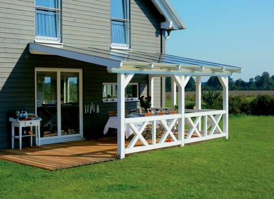 49 Best Veranda Images On Pinterest | Decks, Backyard ... avec Pergola 4X4 Bois