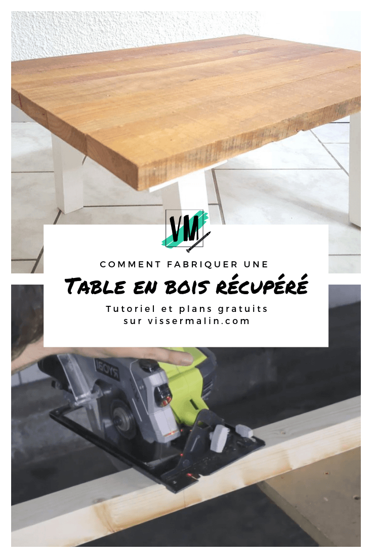 5- Comment Fabriquer Une Table Basse En Bois De ... concernant Comment Fabriquer Une Table De Ferme En Bois
