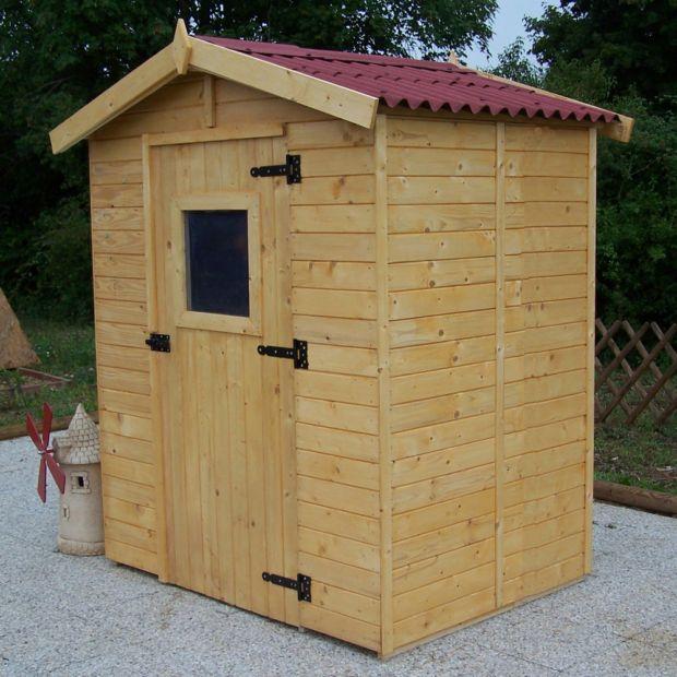 Abri De Jardin Bois Habrita 3,55 M² Ep. 16 Mm 177X80X52 Cm ... intérieur Abri De Jardin Adossable 5M2