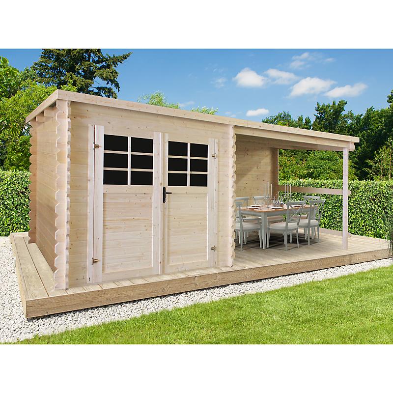 Abri De Jardin Bois Initia 28 Mm 4,60 M² - Maison Et ... avec Abri De Jardin Adossable 5M2