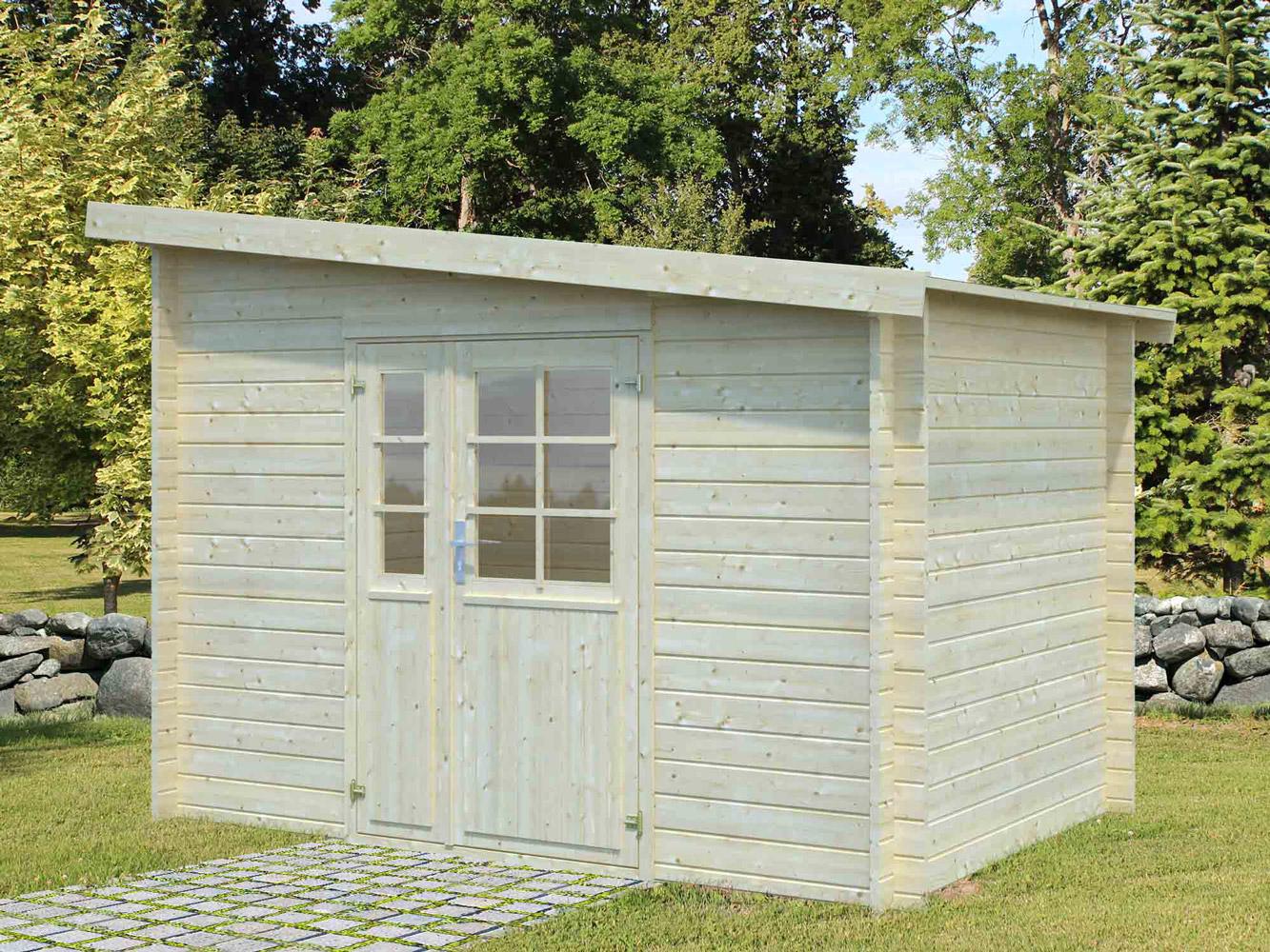Abri De Jardin Bois Labeaume 9.86 M² Adossable - Oogarden intérieur Abri De Jardin Adossable 5M2