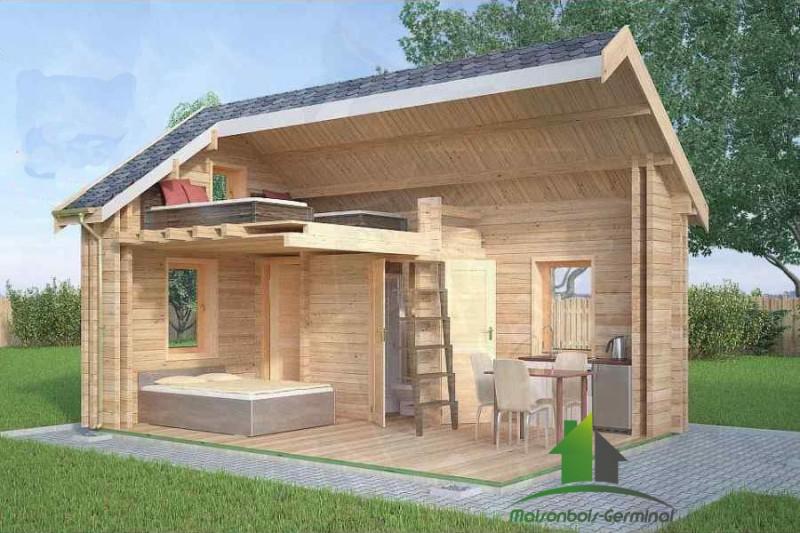 Abri De Jardin Habitable Avec Mezzanine - Les Cabanes De ... pour Chalet 10M2