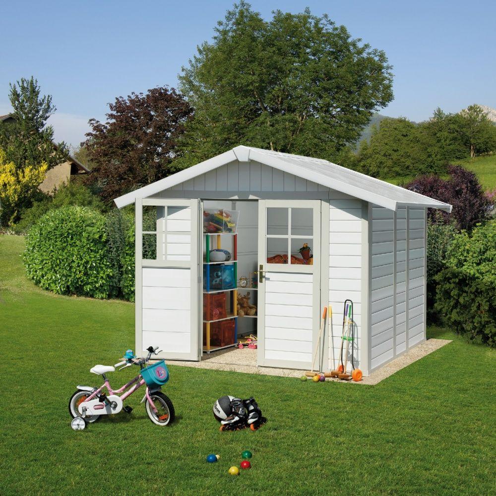 Abri De Jardin Résine Grosfillex 4,90 M² Ep. 26 Mm Deco ... tout Green Outside Abri De Jardin