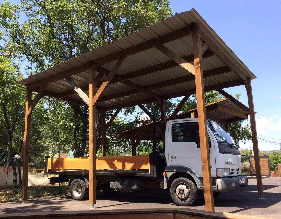 Abri Pour 1 Ou 2 Voitures - Var Et Bois serapportantà Abri Camping Car Brico Depot