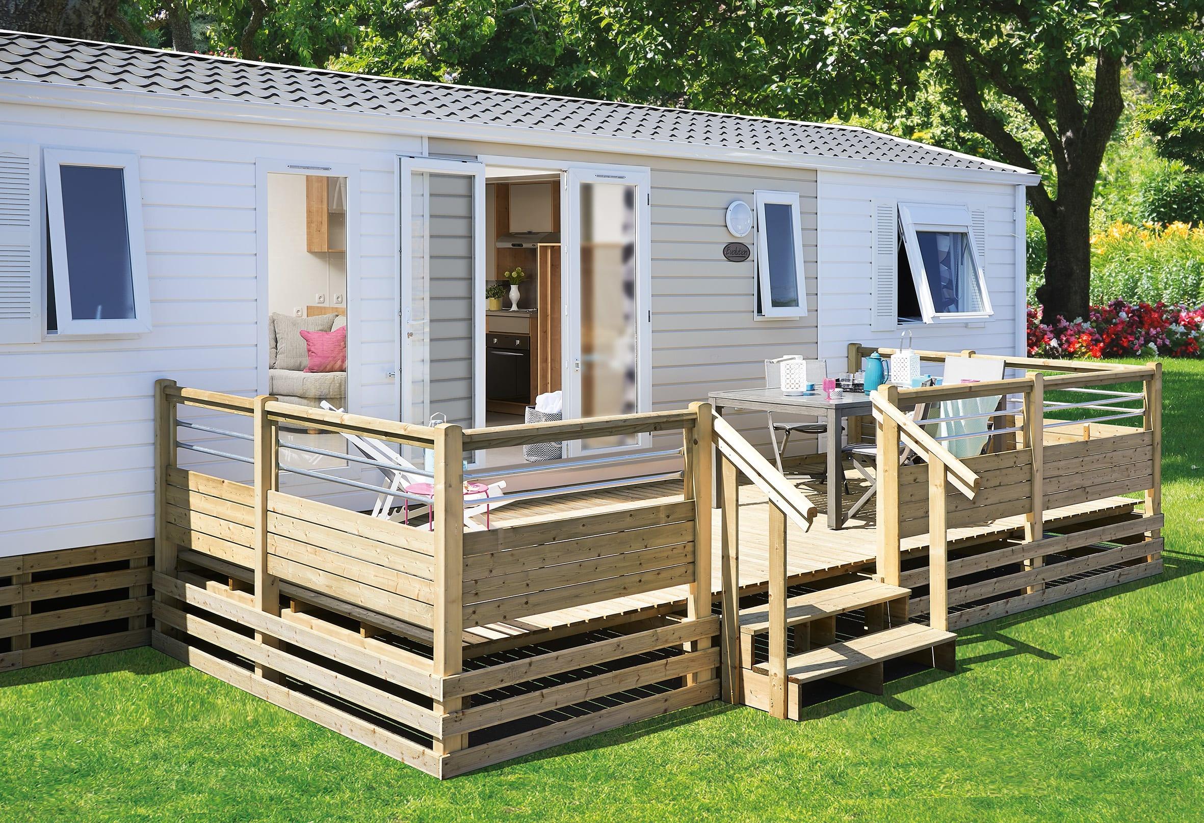 Accessoires Terrasse Mobil Home pour Kit Couverture Terrasse Mobil Home