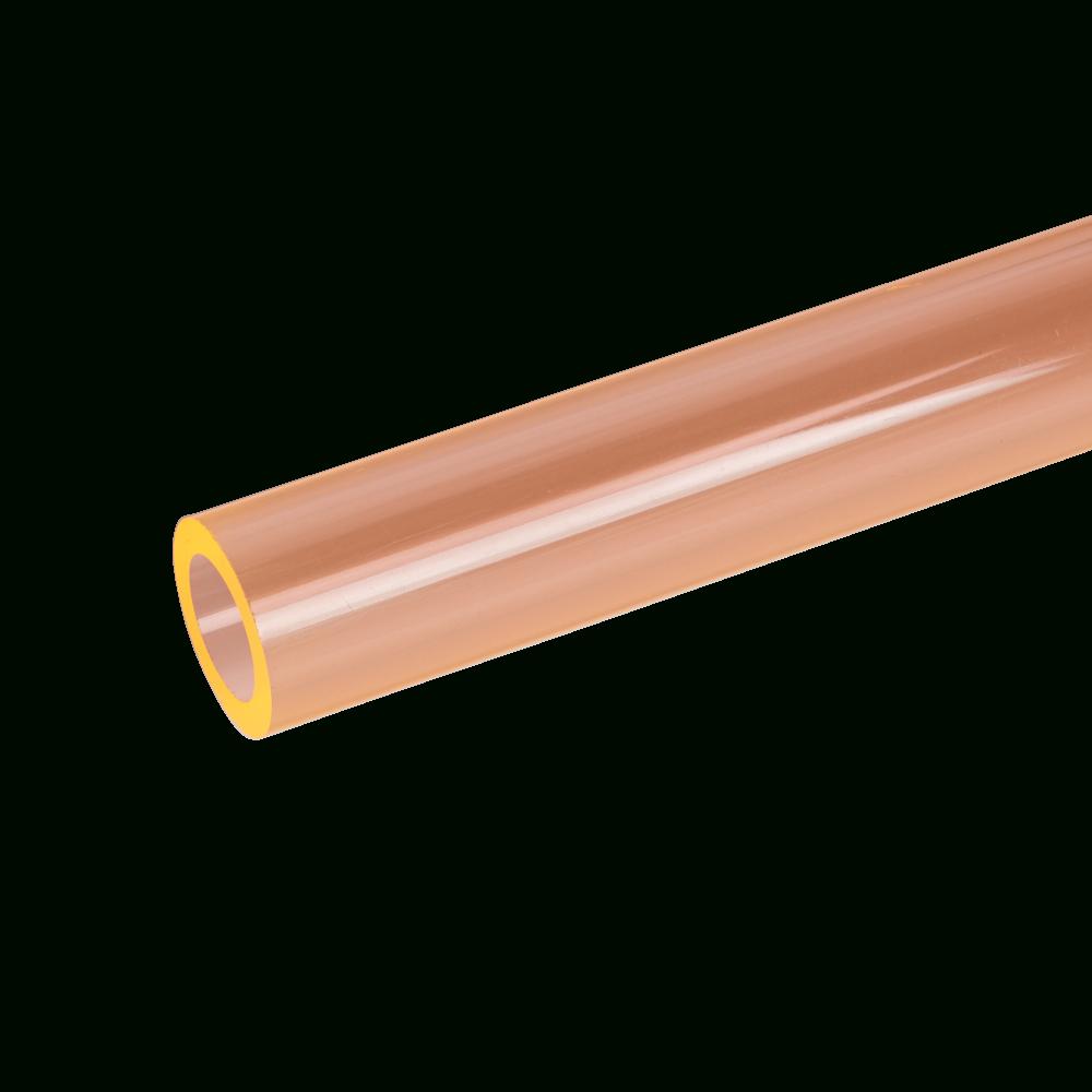 Acrylic Extruded Orange 2150 Tube concernant Tube Transparent Rigide Leroy Merlin