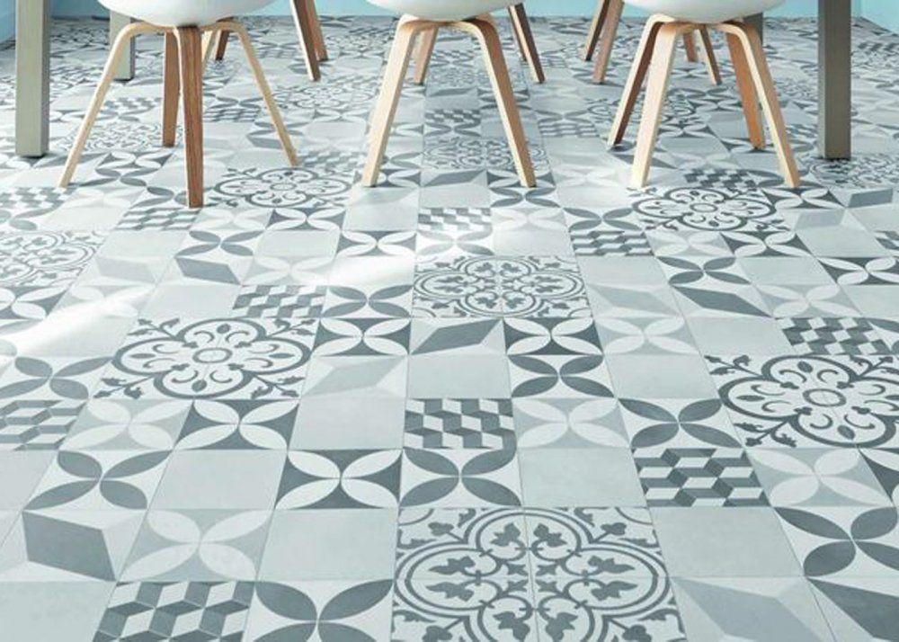 Afficher L'Image D'Origine | Vinyle Carreaux De Ciment ... destiné Sol Vinyle Imitation Carrelage Hexagonal