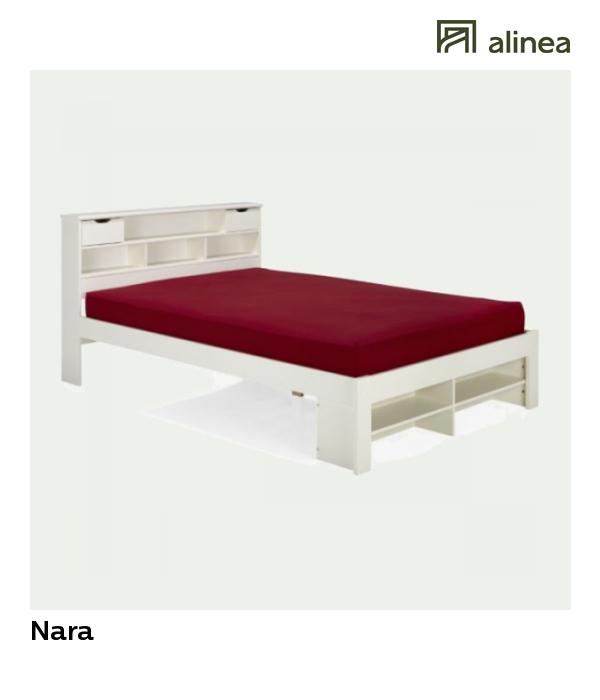 Alinea : Nara Lit 2 Places En Pin Massif Avec Tête De Lit ... serapportantà Lit 120X190 Alinea