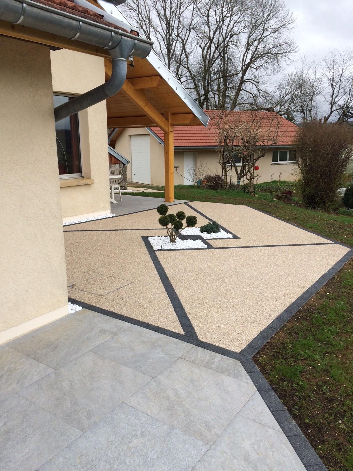 Aménagement De Terrasse Mixte - Cuinet à Terrasse Couverte Avec Poteaux Beton