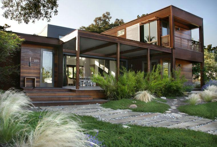 Aménagement Extérieur Maison : Jardins D'Entrée Modernes à Jardin Devant Maison Moderne