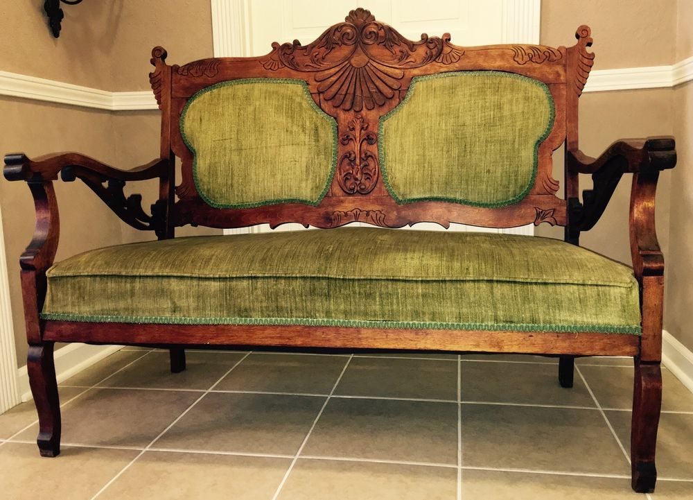 Antique!☆Settee☆Couch☆Sofa☆Chair☆Bench☆Carved☆Wood☆French ... serapportantà Sofa Dreams France