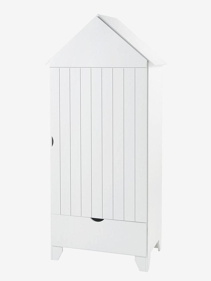 Armoire 1 Porte Holidays Blanc - Vertbaudet | Armoire ... encequiconcerne Armoire Cabine De Plage Occasion