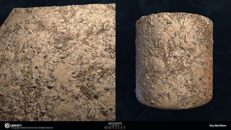 Artstation - Assassin'S Creed Odyssey - Ground Materials ... dedans Naterial Odyssea