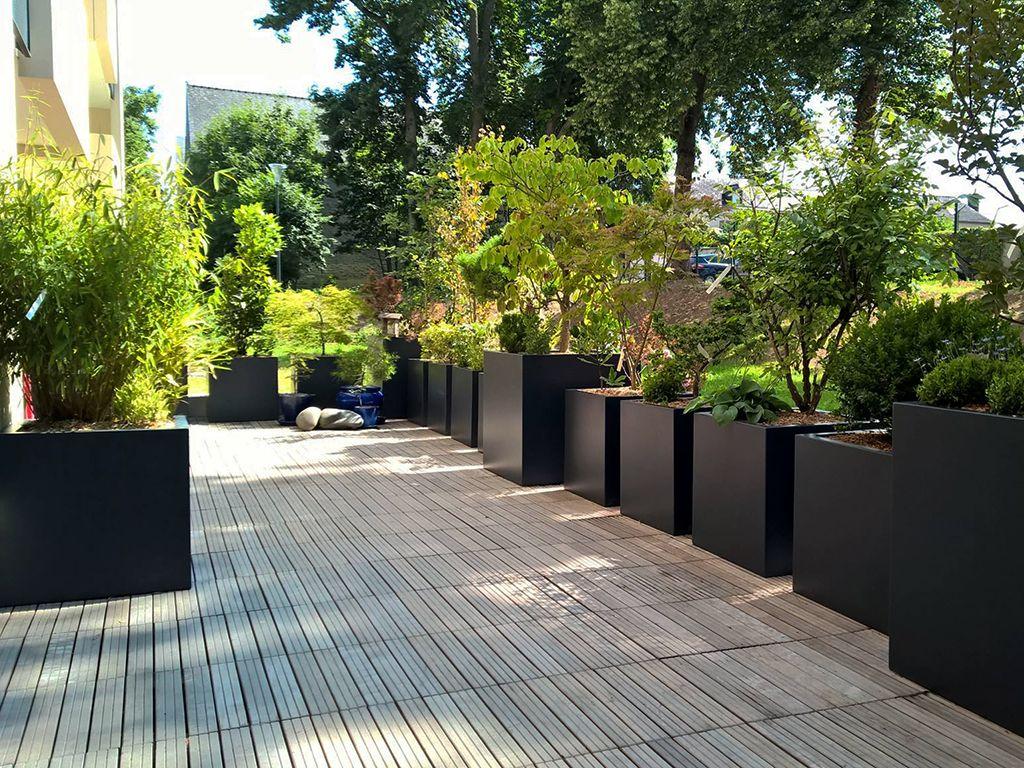 Bacs À Plantes Pour Aménager Une Terrasse | Amenagement ... pour Plantes Pour Bords De Piscine