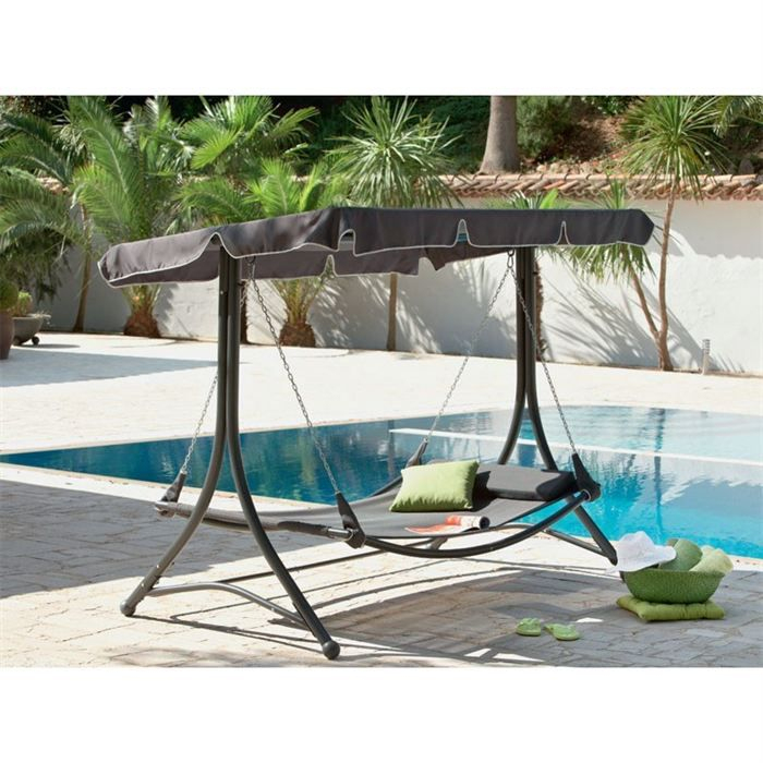 Balancelle Palma Hesperide - Achat / Vente Balancelle ... intérieur Balancelle Lit Jardin Carrefour