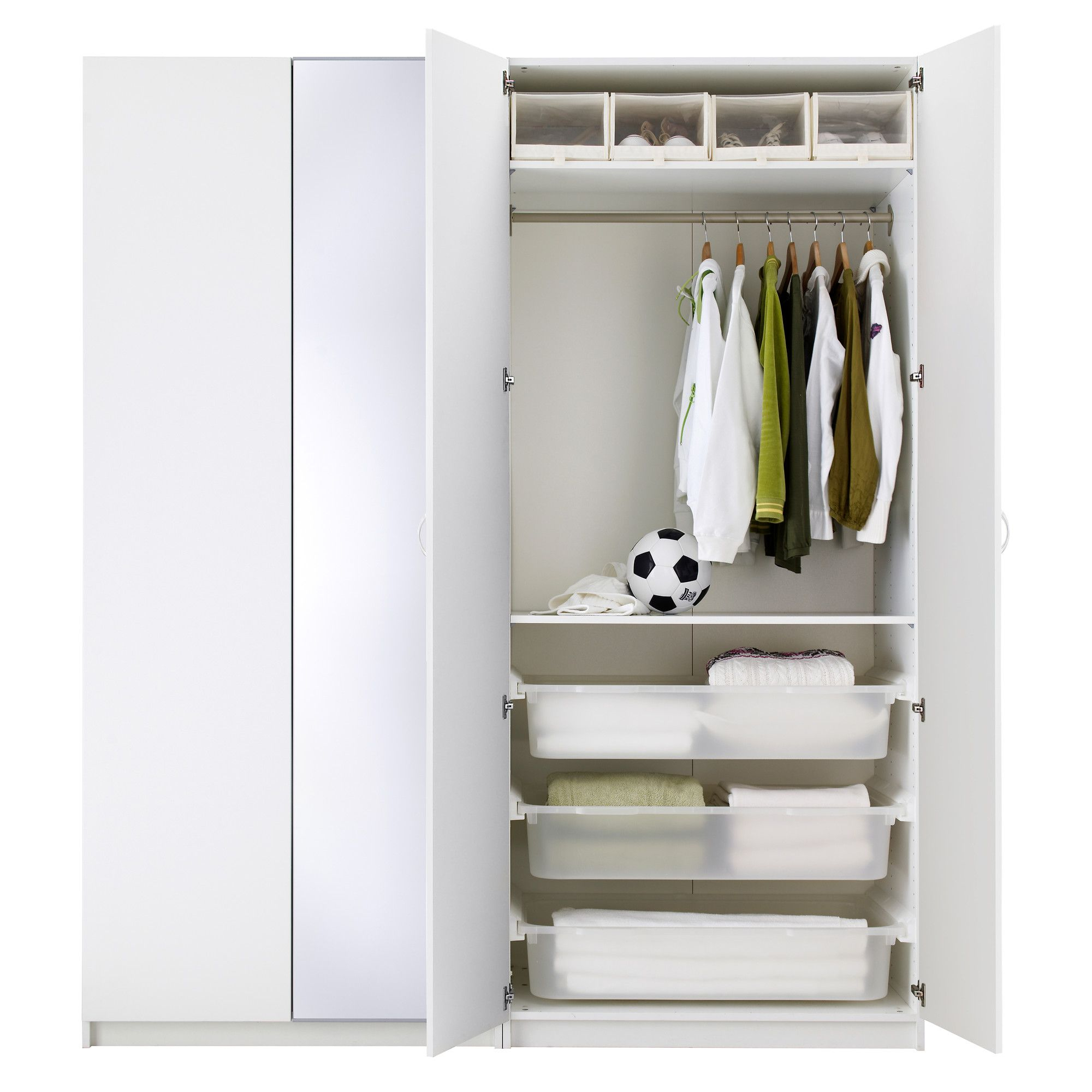 "Ballstad Door - White 19 1/2X90 3/8 "" (50X229 Cm ... encequiconcerne Caisson Pax Ikea 100X58X236"