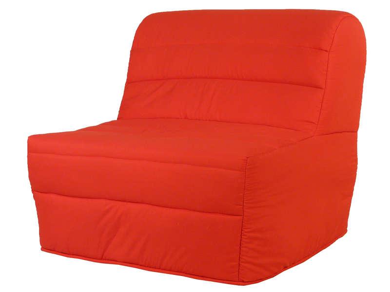 Banquette Bz En Tissu Bibop Coloris Rouge - Vente De ... à Housse De Clic Clac New York Conforama