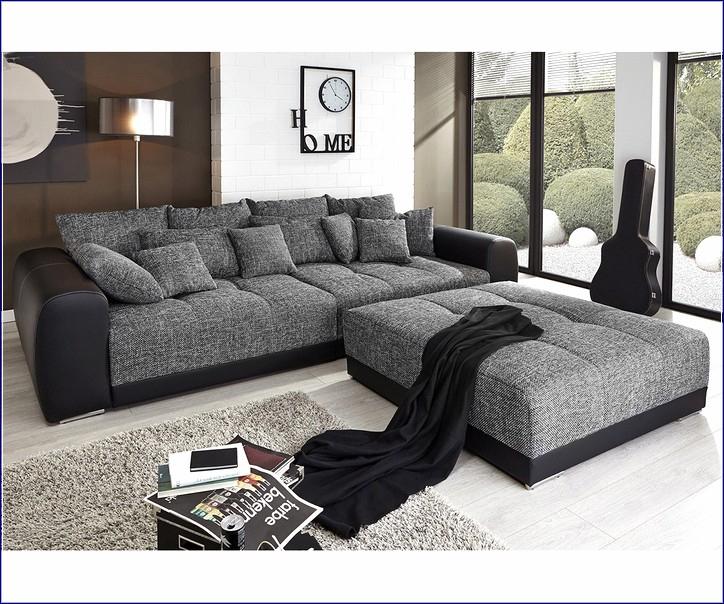 Big Sofa Mit Hocker Und Kissen | Hauptdesign concernant Sofa Mit Hocker Quinn