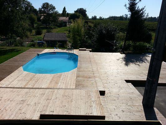 Boisylva Aquitaine Multiservices - Construction Bois ... pour Piscine Sans Margelles