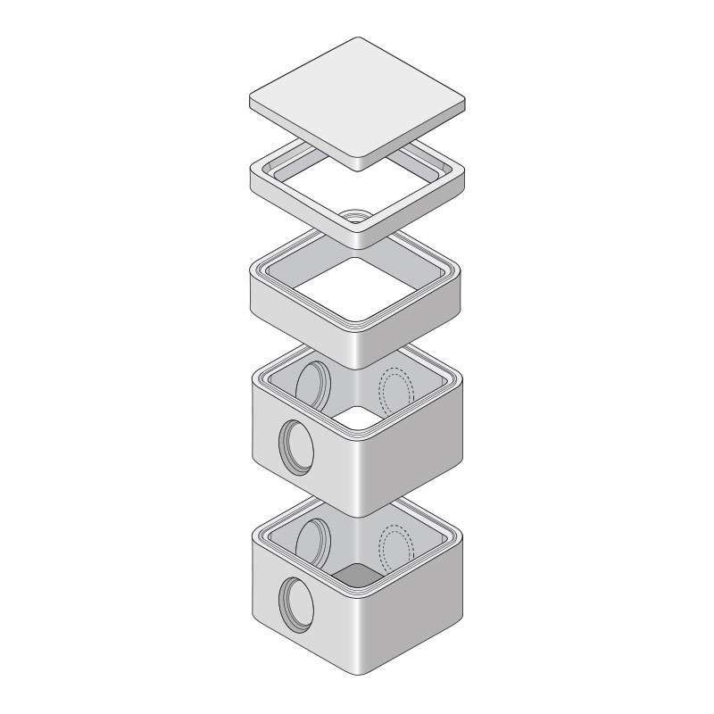 Boîtes Eaux Pluviales 60X60 À Emboîtement - Socramat avec Regard Béton 60X60 Castorama
