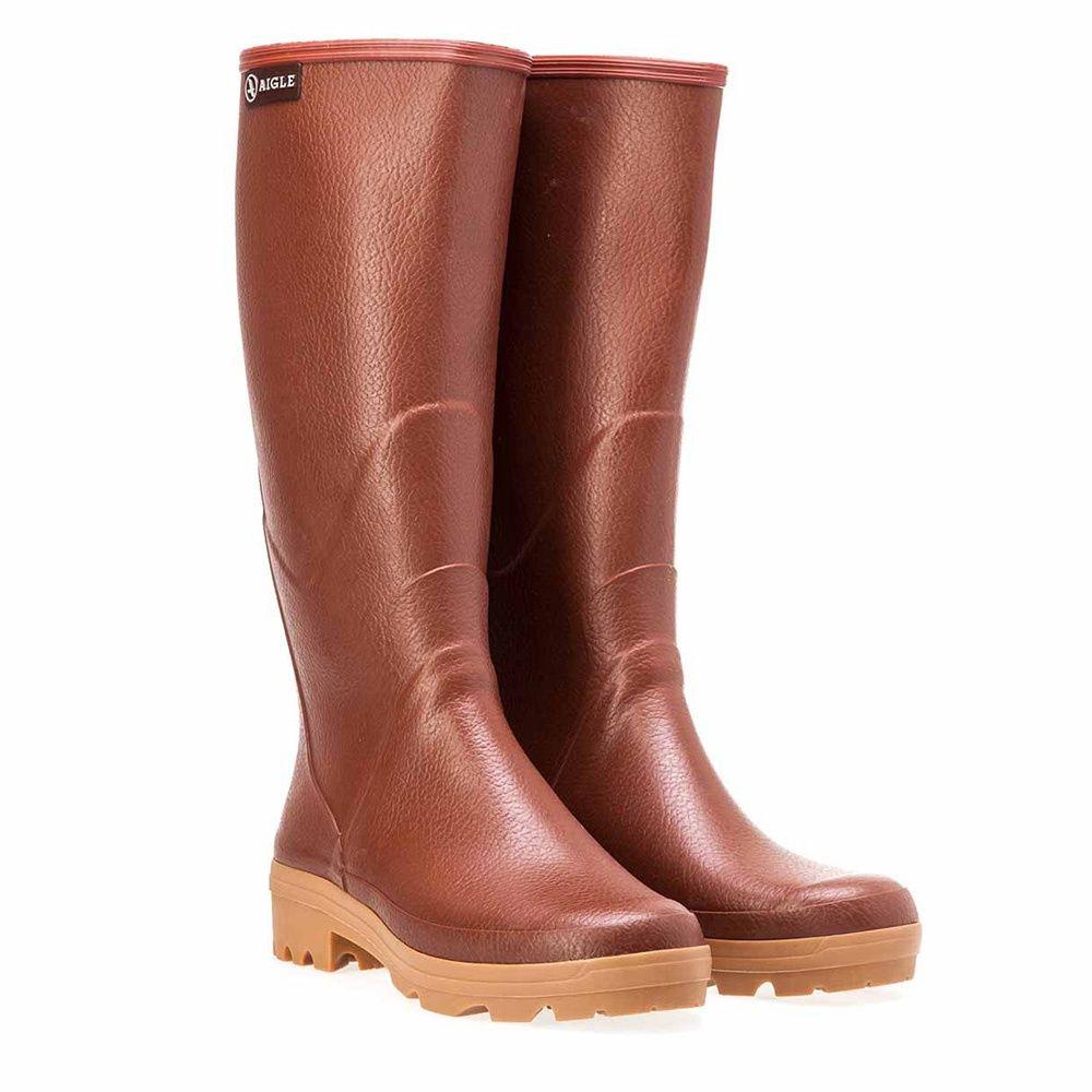 Bottes En Caoutchouc Chambord Pro 2 - Aigle - Taille 44 ... dedans Chaussures Aigle Gamm Vert