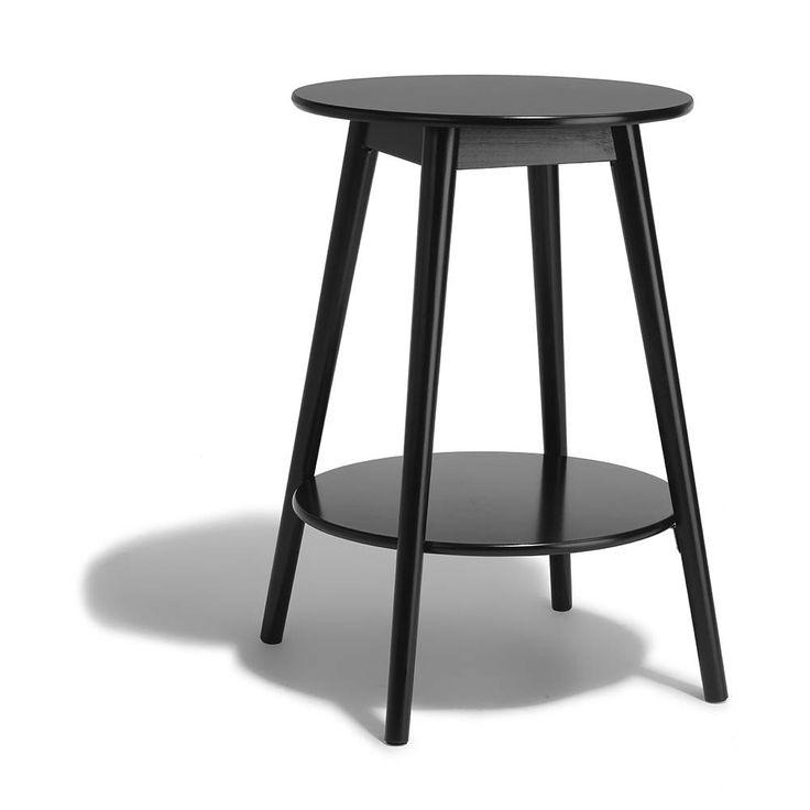Bout De Canapé Noir Adèle - Table Basse Et D'Appoint ... avec Bout De Canapé Joseph Gifi